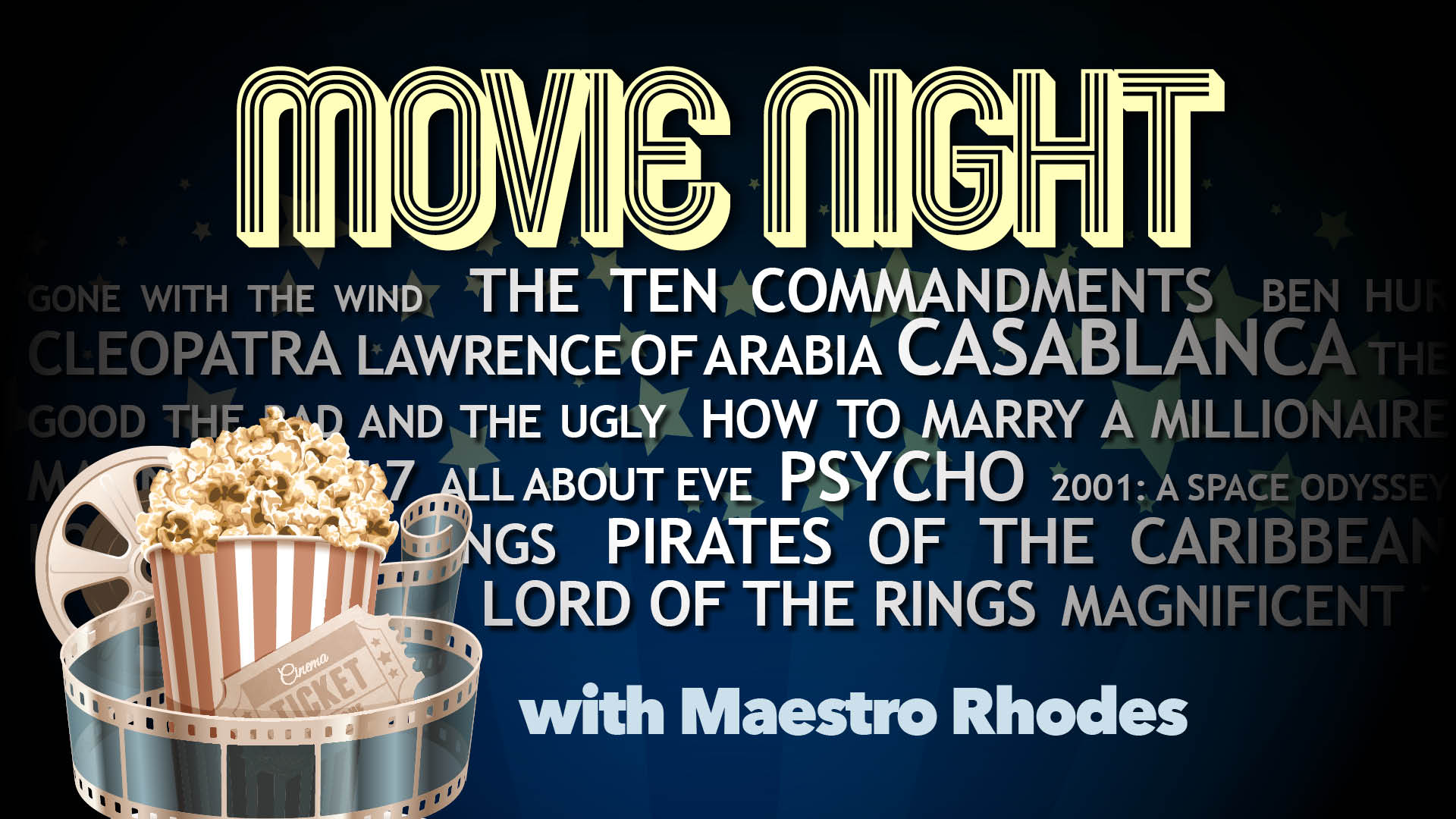 Springfield Symphony Orchestra Movie Night With Maestro Rhodes